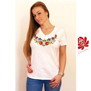 Női póló kalocsai mintával 2